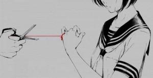 cortando hilo del destino niña llorando