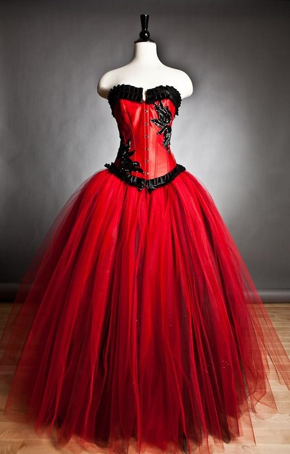 custom-size-red-and-black-burlesque-corset-ball-gown-s-xl